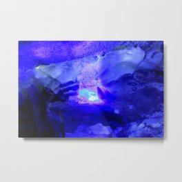 Polar grotto, Kungur Ice Cave, Russia Metal Print