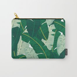Classic Banana Leaves in Palm Springs Green Carry-All Pouch