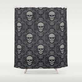 skull texture Shower Curtain