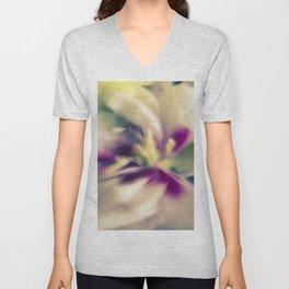 Blured flowers Unisex V-Neck