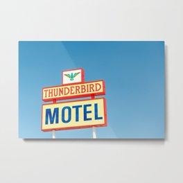 Thunderbird Motel Metal Print