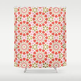 Persian Mosaic – Coral & Gold Palette Shower Curtain