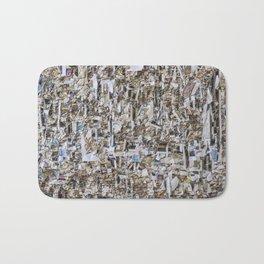 Texture of paper shredded wall Bath Mat