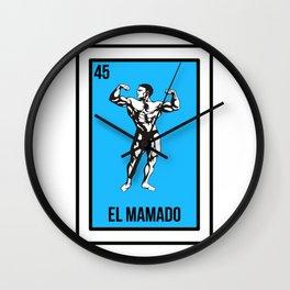Loteria El Mamado Gimnasio Chistoso Regalo Wall Clock
