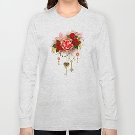 Ruby Heart with Roses Long Sleeve T-shirt
