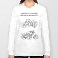 cafe racer Long Sleeve T-shirts featuring NORTON COMMANDO 961 CAFE RACER. 2011 by Larsson Stevensem