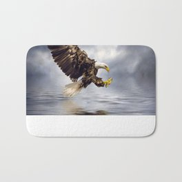Young Bald Eagle Swooping Bath Mat