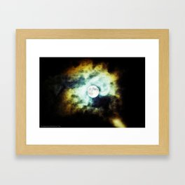 The Darkness Comes Framed Art Print