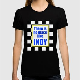 There Is No Place Like INDY, blue & yellow T-shirt