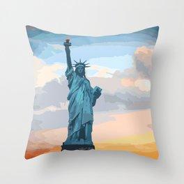 Liberty! Throw Pillow