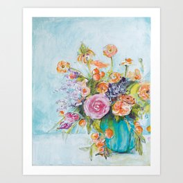 The One with the Teal Vase Art Print