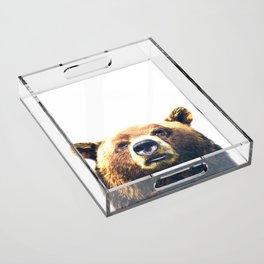 Bear portrait Acrylic Tray