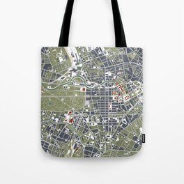Berlin city map engraving Tote Bag