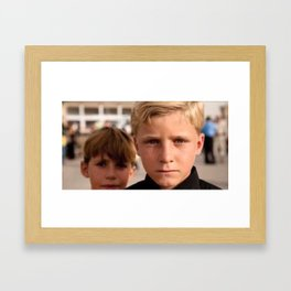 Kurdish Boys Framed Art Print
