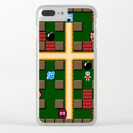 bomber man Clear iPhone Case