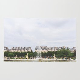 Summer at the Jardin de Tuileries, Paris, France Rug