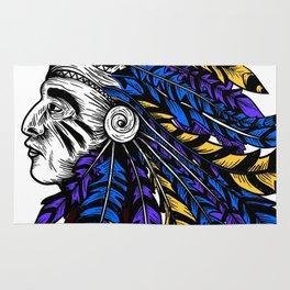 American Native Chieftain Head Rug