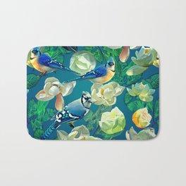 Blue Jays and Magnolias Bath Mat