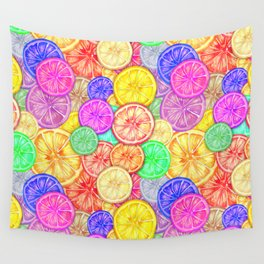 citrus slices Wall Tapestry