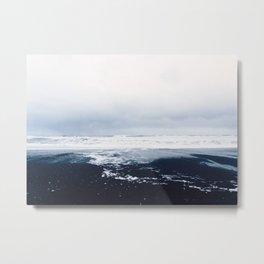 Reynisfjara Black Sand Beach, Vik, Iceland Metal Print