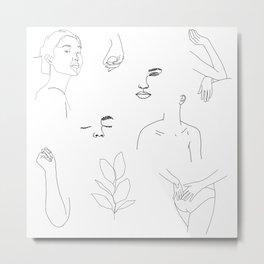 Illustration collage - Theo Metal Print