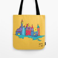 europe Tote Bags featuring europe by PINT GRAPHICS