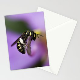 Yellow-faced Bee Stationery Cards