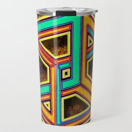 DIFORCE #3 Impossible Triangle Psychedelic Optical Illusion Travel Mug