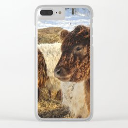 Scottish Cows Clear iPhone Case