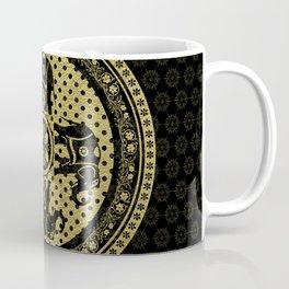 Mandala Indian Elephants Gold Spiritual Zen Bohemian Hippie Yoga Mantra Meditation Coffee Mug