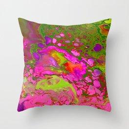 Pink Acid Throw Pillow