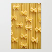 pasta Canvas Prints featuring Pasta  by Ylenia Pizzetti