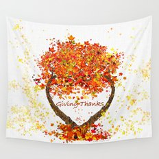 Giving Thanks Wall Tapestry