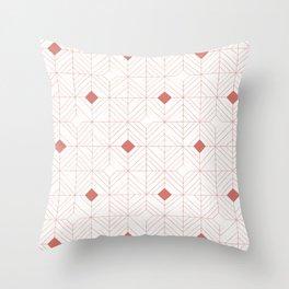 Diamonds Coral Throw Pillow