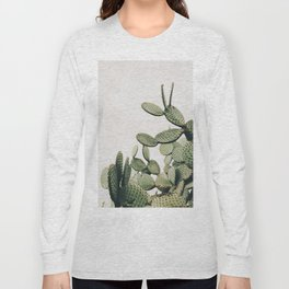 Cactus on blue sky #society6 #decor #buyart Long Sleeve T-shirt