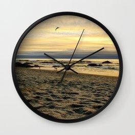 Sunset on the Oregon Coast Wall Clock