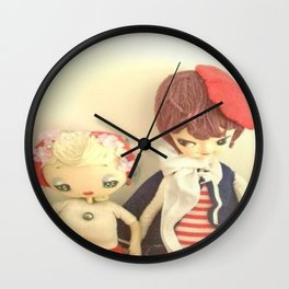 Lady  pose dolls Wall Clock