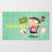 teacher Area & Throw Rugs featuring teacher by Alapapaju