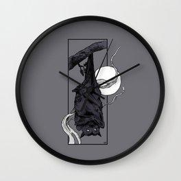 Purple Bat Wall Clock