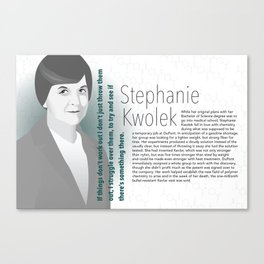 STEM Women 04 - Stephanie Kwolek Canvas Print