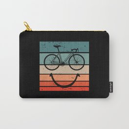 Bike Smiley Face MTB Cycling Carry-All Pouch