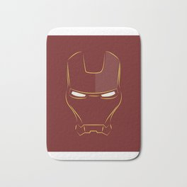iron man face Bath Mat