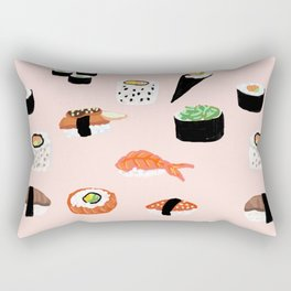 Sushi Noms Print Rectangular Pillow