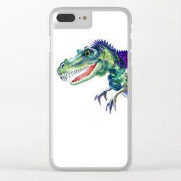 Tyrannosaurus, Dinosaur Art Clear iPhone Case