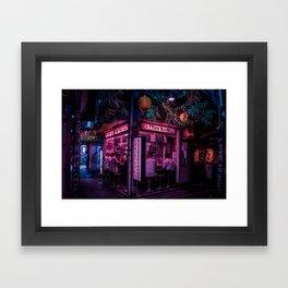 Ramen Corner in Tokyo Framed Art Print