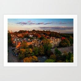 Autumn in Brookline, MA Art Print