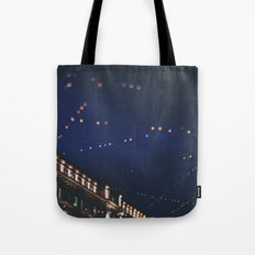 christmas lights ...  Tote Bag