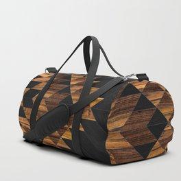 Urban Tribal Pattern 11 Aztec Wood Duffle Bag