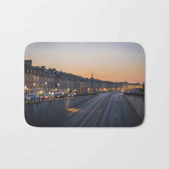 Sunset on Bordeaux Bath Mat