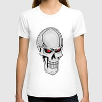 metallic T-shirts featuring Metallic Skull by J&C Creations